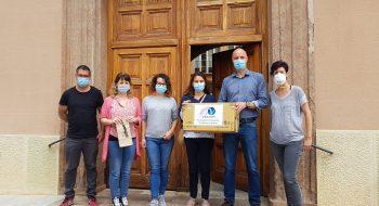 Vidmar hace entrega de mascarillas a la residencia 3era edat St. Jaume de Cardona